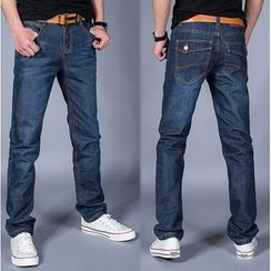 Kieran - Washed Straight Fit Jeans