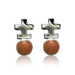 ZN Concept - Orange Agate Earrings