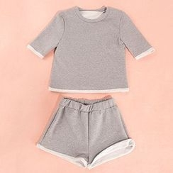 Merma - Set: Short-Sleeve Sweatshirt + Sweat Shorts