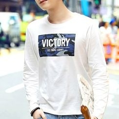 HANDA - Print Long-Sleeve T-shirt