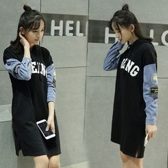 Sienne - Appliqué Hoodie Dress