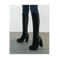 ATTYSTORY - Chunky-Heel Long Boots