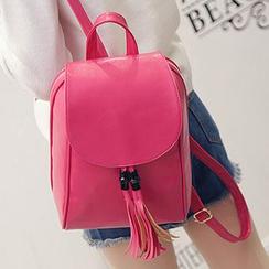 I.O.U - Tassel Faux Leather Backpack