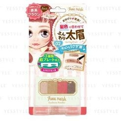 LUCKY TRENDY - BW Fuwa Mash Eyebrow Powder (Red Brown)