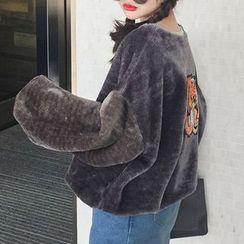 Cloud Nine - Embroidered Fleece Sweatshirt