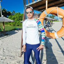 Goldlyre - Printed Rashguard / Swim Pants