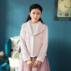 GU ZHI - Faux-Fur Double-Breasted Jacket