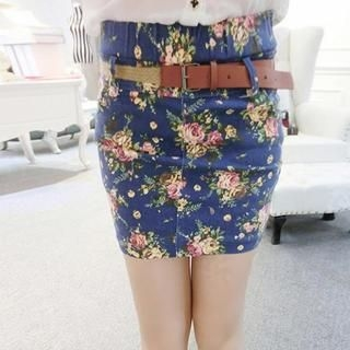 Ando Store - Floral Pencil Skirt