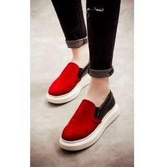 Mancienne - Color-Block Slip-Ons