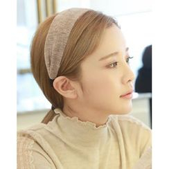 Miss21 Korea - Rib-Knit Wide Hair Band