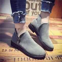 QQ Trend - Faux Suede Ankle Boots