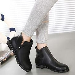 Mancienne - Faux-Leather Ankle Boots