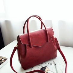 SUOAI - Faux Leather Satchel