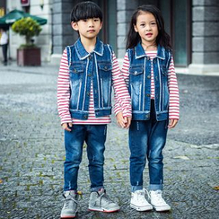 Pegasus - Kids Set: Denim Vest + Jeans