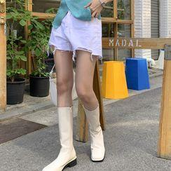 Miamasvin - Sleeveless Pointelle-Knit Dress