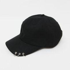 DABAGIRL - Eyelet-Accent Cotton Baseball Cap