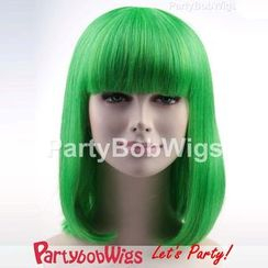 Party Wigs - PartyBobWigs - 派对BOB款中长假发 - 绿色