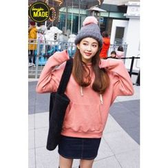 BONGJA SHOP - Hooded Kangaroo-Pocket Pullover