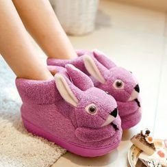 JY Shoes - Rabbit Accent Home Slip-Ons