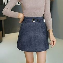 Jolly Club - Belted A-Line Skirt