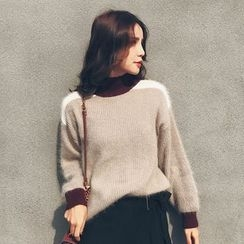 LRZ - Color Block Thick Sweater