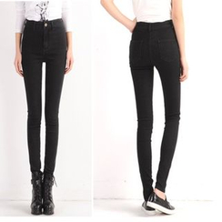伊之恋 - 高腰窄身牛仔裤