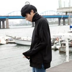 TOMONARI - Turtle-Neck Brushed-Fleece Lined Pullover