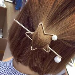 Jemai - Faux Pearl Star Hair Pin