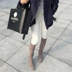 LIPHOP - Brushed Fleece Skinny Pants