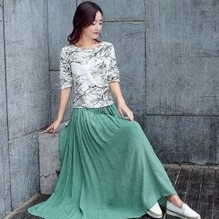 Romantica - Set: Printed Top + Maxi Skirt