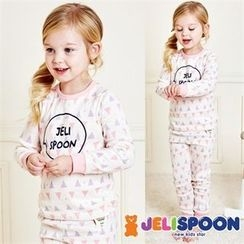JELISPOON - Kids Pajama Set: Triangle Print Top + Pants
