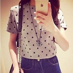 Eureka - Short-Sleeve Dotted T-Shirt