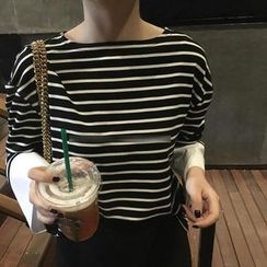 Eva Fashion - Striped Long Sleeve T-Shirt