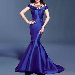 Bridal Workshop - Off Shoulder Mermaid Evening Gown