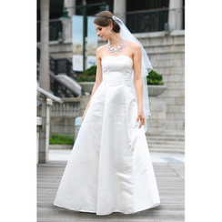 YesStyle Wedding Tulle Back Strapless A-Line Wedding Gown
