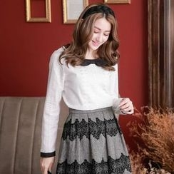 Tokyo Fashion - Long-Sleeve Bow-Accent Top