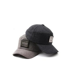 Ohkkage - Metal Plate Patched Baseball Cap