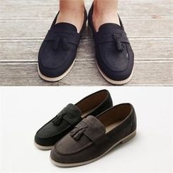 Smallman - Faux-Suede Tassel Loafers