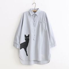Angel Love - Cat Embroidered Shirt