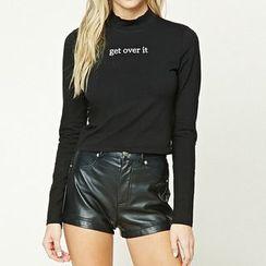 Richcoco - Letter Long-Sleeve T-shirt