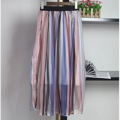 AIGIL - Pinstriped Skirt