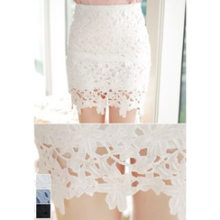 MyFiona - Lace Mini Pencil Skirt