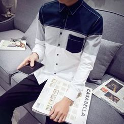 ZONZO - Color Block Long-Sleeve Shirt
