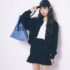 Clair Fashion - 韩版东大门休閒外套荷叶边套装裙