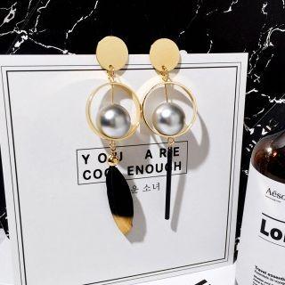 Kulala - Non-Matching Feather Statement Earrings
