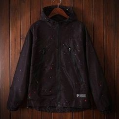 Bigboy - Star Print Hooded Jacket