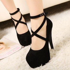 Sunsteps - Cross Strap High-heel Pumps
