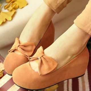 Bow Mary-Jane Wedges