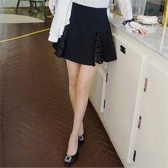 Babi n Pumkin - Inset Shorts Crochet-Lace Mini Skirt