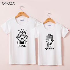 Onoza - Short-Sleeve Printed Couple T-Shirt